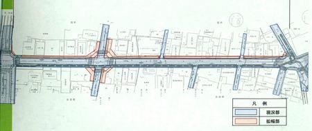桜通り整備計画平面図
